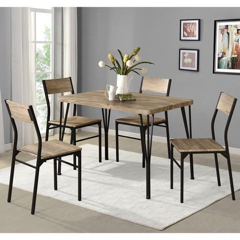 Furniture of America Nama Industrial 5-piece Dining Table Set