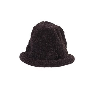 August Hat Brown Chenille Roll Up Hat OS