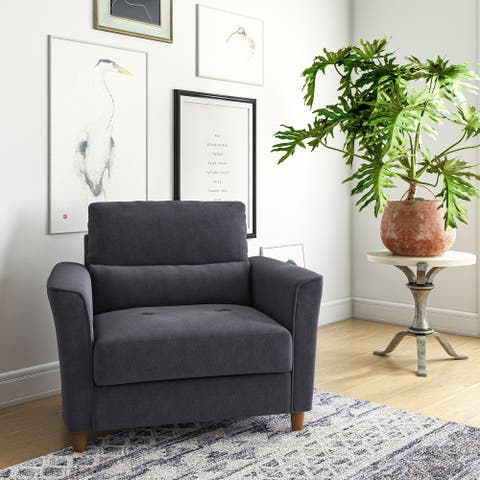 CorLiving Georgia Upholstered Accent Chair and a Half