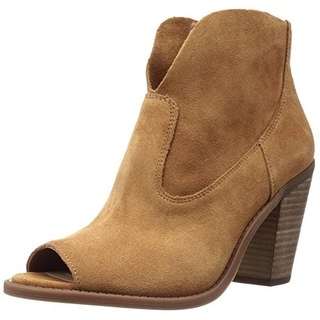 Jessica Simpson Womens Chalotte Ankle Boots Suede Open Toe
