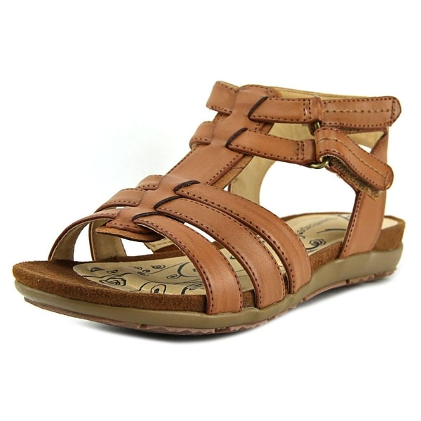 Baretraps Rhose Women Open Toe Synthetic Brown Gladiator Sandal