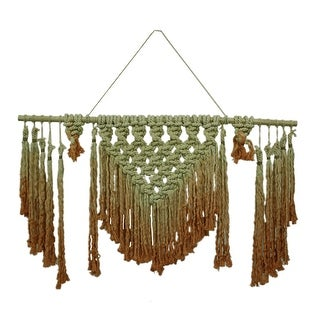 Orange Ombre Boho Style Macrame Wall Hanging 48 X 40 Inches