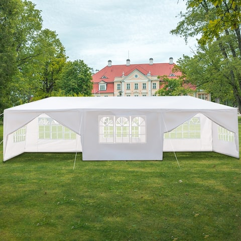 Outdoor Canopy Eight Sides Two Doors Waterproof Tent with Spiral Tubes
