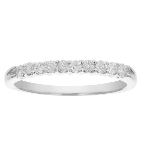 1/4 cttw Certified SI2-I1 Diamond Wedding Band 14K White or Yellow Gold H-I