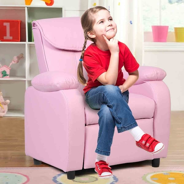 Costway Kid Recliner Sofa Armrest Chair Couch Children Living Room ...