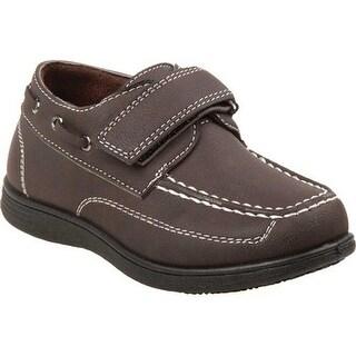 Josmo Boys' O-80385B Slip-on Boat Shoe Brown