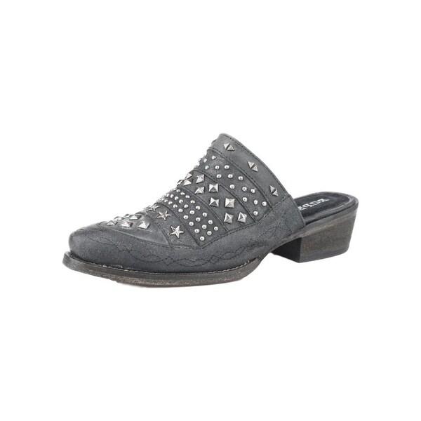 Roper Western Shoe Womens Slip On Studs Black