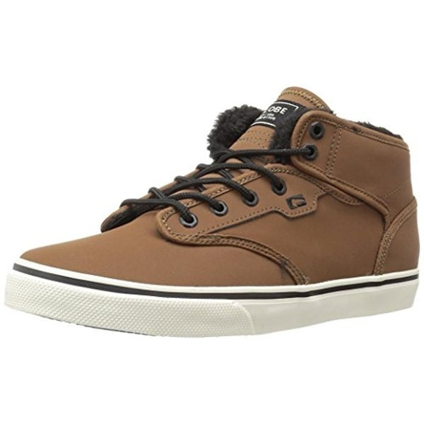 Globe Mens Motley Mid Skateboarding Shoes Suede Faux Fur Lined
