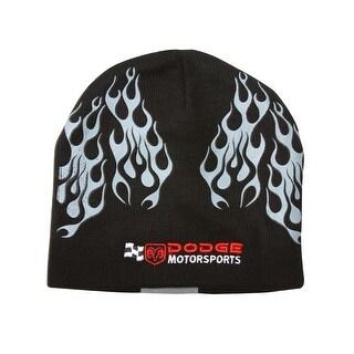 Dodge Motorsports Flames Cuffless Black Beanie