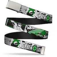 Blank Chrome Bo Buckle Green Lantern Comic Strip Webbing Web Belt