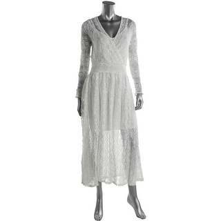 French Connection Womens Lace Layered Maxi Dress - 8