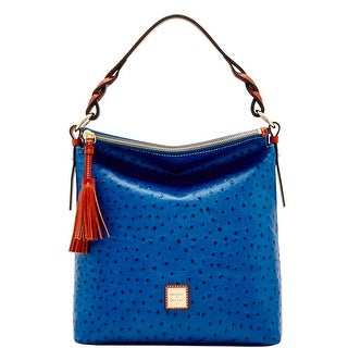 Dooney & Bourke Ostrich Small Sloan (Introduced by Dooney & Bourke at $288 in Jun 2017) - Marine