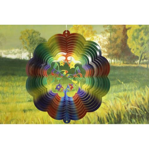 "12"" Multi-Color 3D Butterfly Wind Spinner"
