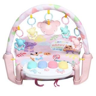 3 in 1 Fitness Music and Lights Baby Gym Play Mat - Pink
