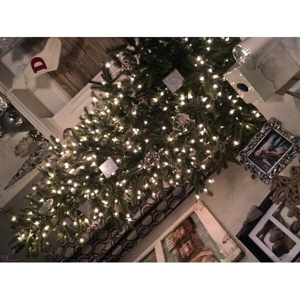 Puleo International 75' Prelit Aspen Green Fir Tree Free