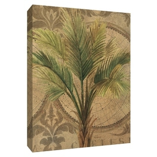 """PTM Images 9-154558  PTM Canvas Collection 10"""" x 8"""" - """"Decorative Palm II"""" Giclee Palms Art Print on Canvas"""
