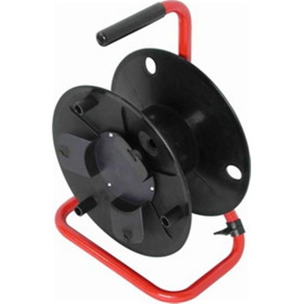 330 ft. 6 mm Cable Reel - Red Steel Frame Plus Plastic Cable Drum