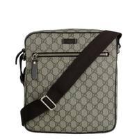 f36fcba94cdf Gucci Men's Shoulder Beige/Ebony GG Coated Canvas Bag 201448 FCIGG 8588 -  One size