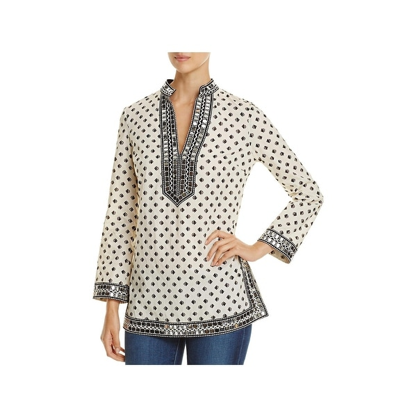 f006648bde54 Shop Tory Burch Womens Tunic Top Printed Sequined - Ships To Canada ...