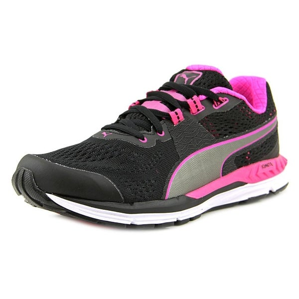 Puma Speed 600 Ignite Women Black-Pink Glo-Aged Silver Sneakers Shoes