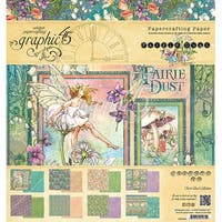 "Graphic 45 Double-Sided Paper Pad 8""X8"" 24/Pkg-Fairie Dust"