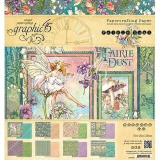 """Graphic 45 Double-Sided Paper Pad 8""""X8"""" 24/Pkg-Fairie Dust"""