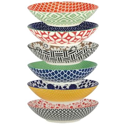 Certified International Soho All Purpose Porcelain Bowls (Set of 6)