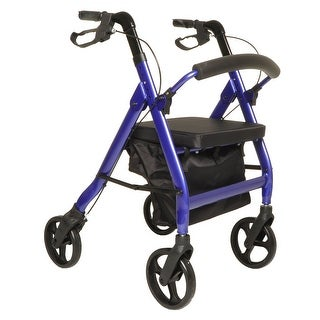 Heavy Duty Aluminum Rollator Rolling Walker with Seat
