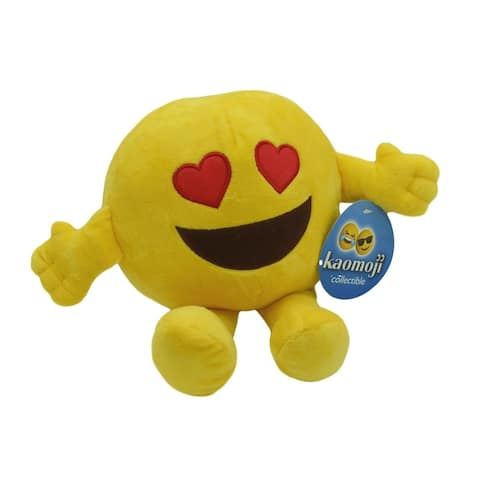 "7"" Heart Eyes Emoji Plush"