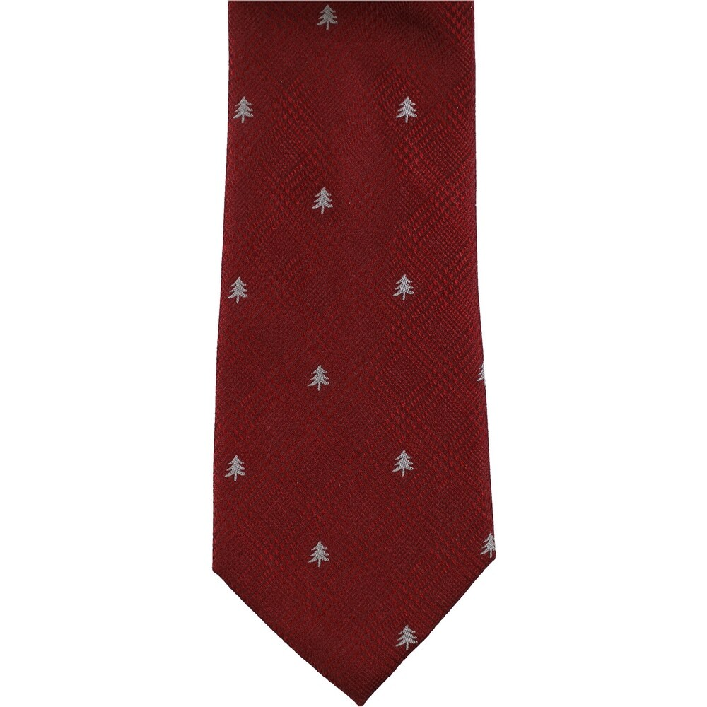 red Tommy Hilfiger Mens Floral Self-tied Necktie One Size