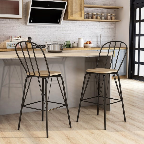 Furniture of America Jack Modern Metal Slatted Counter Chairs (Set of 2). Opens flyout.