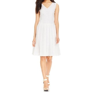 Nine West Womens Casual Dress Checkered Pleated