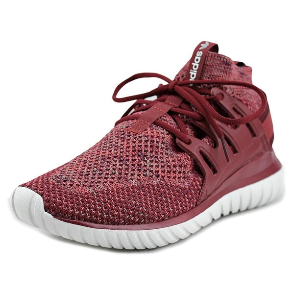 Adidas Tubular Nova Men Round Toe Synthetic Red Running Shoe