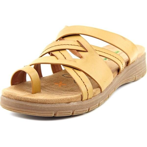 Baretraps Cassy Women Open Toe Synthetic Tan Slides Sandal