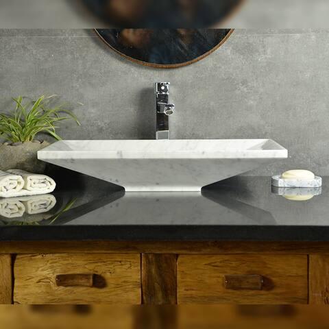 Bliss Zen White Carrara Marble Sink
