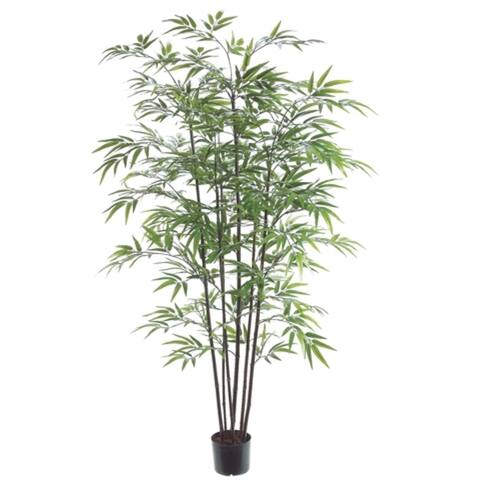 Set of 2 Potted Artificial Black Bamboo Trees 5' - Green - 3-to-6-feet