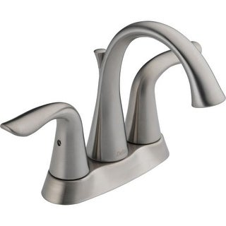 Delta 2538-MPU-DST Lahara Centerset Bathroom Faucet with Pop-Up Drain Assembly - Includes Lifetime Warranty