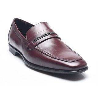 Bruno Magli Men's Leather Micolino Loafers Shoes Magenta Brown