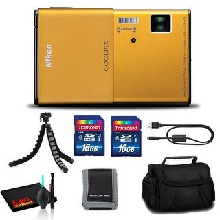 Link to Nikon CoolPix S80 Digital Camera (Gold)- (2)16GB SD Kit, Case, Tripod, and More Similar Items in Digital Cameras