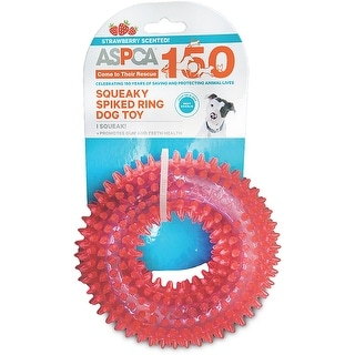 ASPCA Squeaky Spiked Ring Dog Toy-Pink - Pink
