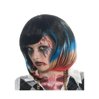 Rubie's Girls Zombie Rocker Costume Wig Halloween Party - o/s