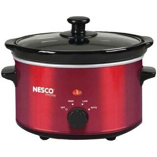Nesco SC-150R Oval Slow Cooker, 1.5-Quart, Red