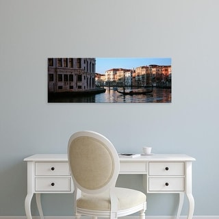 Easy Art Prints Panoramic Images's 'Gondola in a canal, Grand Canal, Venice, Italy' Premium Canvas Art