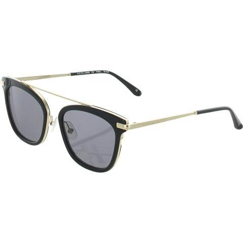 BCBGMAXAZRIA Womens Square Sunglasses UV Protection Eyewear - Black - O/S