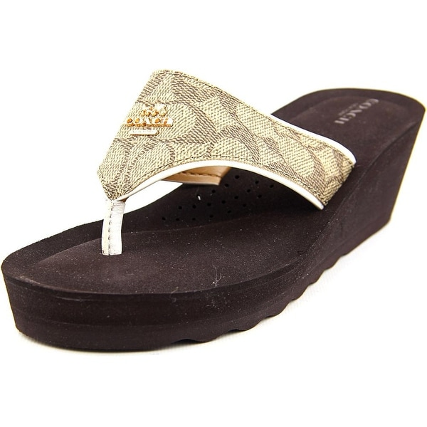 Coach Janice Women Khaki/Chalk Sandals