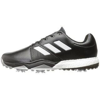 Adidas Men's Adipower Boost 3 Core Black/White/Silver Met. Golf Shoes  Q44757 / Q44763