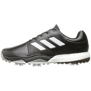 Adidas Men's Adipower Boost 3 Core Black/White/Silver Met. Golf Shoes Q44757 / Q44763