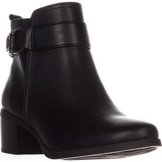 AK Anne Klein Jeannie Comfort Ankle Boots, Black