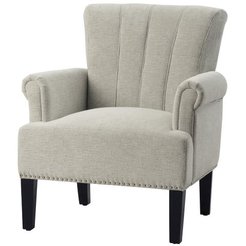 Merax Rivet Tufted Polyester Accent Armchair