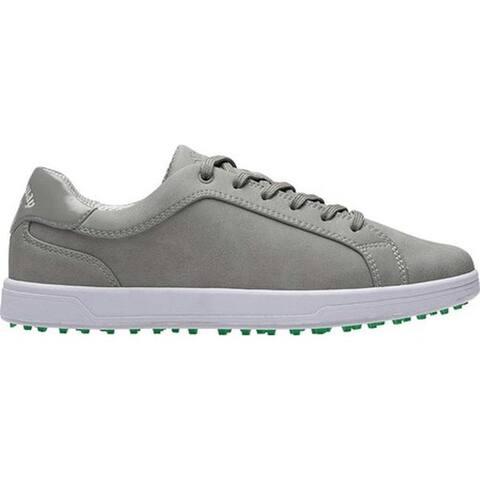 Callaway Women's Del Mar Waterproof Golf Shoe Grey Microfiber Leather